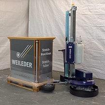 Palettensicherung mit Wickelroboter