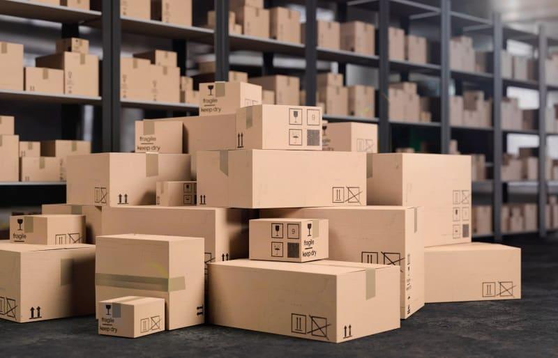 versandverpackungen im lager